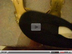 golden heeled shoes cummed 01