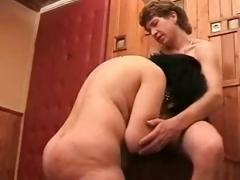 This Russian mom is dressed up so slutty and eager to fuck some young meat