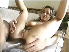 Kinky blonde MILF takes his big cock in her mouth and fucks it