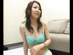 Japanese girl gets blindfolded and then sucks and gets fucked