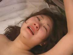 Asian babe is abused and fucked hard by these to soldiers