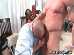 Group of sexy and horny men suck cock part4