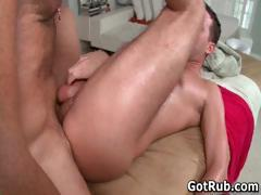 Sexy dude get his amazing body massaged part3