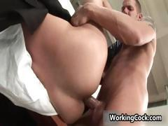 Jake Steel fucking and sucking on office part5