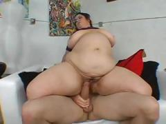 BBW MILF with huge tits sucks and fucks in different positions