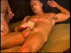 CBT 1 muscle stud fucks and then bashes the other studs balls