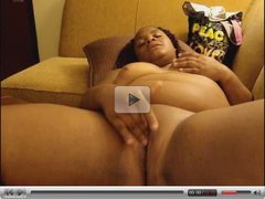 Hot Ebony BBW Fingering On Couch (Original Sound)