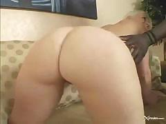 Charlotte Stokley sticks out her ass to take a black cock in it