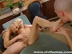Therapy session turns into a threesome with lots of fucking