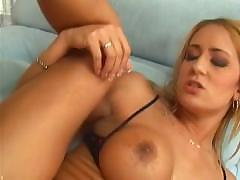 Busty Trina Michaels sucks his cock and fucks him on her bed
