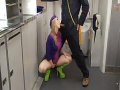 Sunny Lane Flight Attendant Blowjob