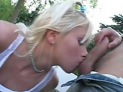 Naughty Blonde And Her Dirty Games In Park