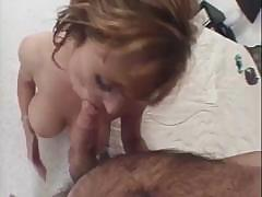 Nice french mature woman sucks and give her cunt to fuck
