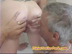 Daddy fucks TEEN Daughter in the ASS and MOUTH
