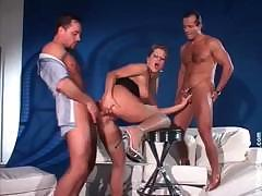 Rich Bitch fucked by two guys