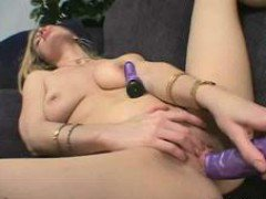 Blonde Whore Plays With Her Sextoys
