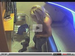 Voyeur webcam nude girl in solarium part15
