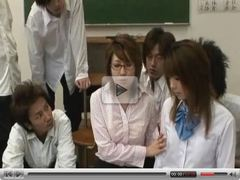 Horny Japanese teacher gets fucked