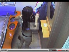 Voyeur webcam nude girl in solarium part20