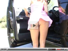 Hot MILF Karina hitchhiking