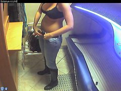Voyeur webcam nude girl in solarium part24