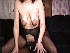 saggy mature takes bbc for hubby to watch