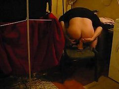 Dirty dildo after sniffing poppers