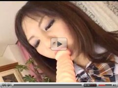 Japanese Cutie Dildos Her Tight Hairy Pussy !