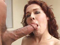 Redhead mom getting fucked by young stud