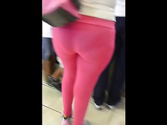Gran culo en leggins rosas - BIG but in Pink leggins