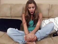 Milf Smells Her Stinky Feet