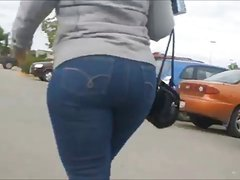 Milf Mature in tight jeans big ass butt mom phat booty  4