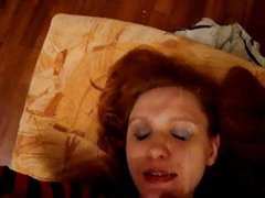 lover cums all over wife's face