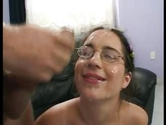 Young Barb gets fucked in the ass, then LOTS of facials