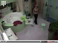 Big Brother NL  Hot blond teen Girl showers nude after sport
