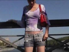 Piss: Russian Baby Wet Her Short In Public