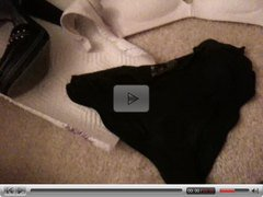 Making love to roommates panties, bra and shoes