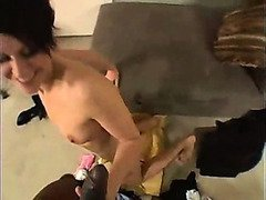Skinny Mom Squirts during her Audition...F70