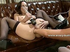 Naughty babes using underground place to fuck in anal toy sex in dirty kinky pleasures video