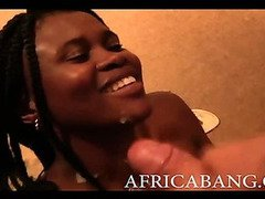 Nasty big booty black African amteur blowjob and fucked
