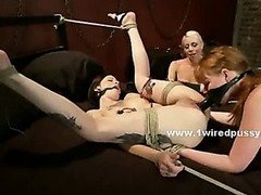 House mistress takes maid and forces her to submit to her lesbian bondage fantasies