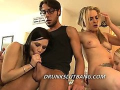 Drunk slut party turns into wild orgy