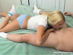 Young blonde show how good she suck dick and fuck-1
