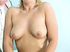 Blonde Tina getting pussy speculum examined by gyno doctor