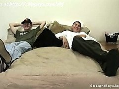 Nice straight boys laying on the bed