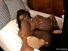 Jada Fire Oiled Up Taking A Big White Cock