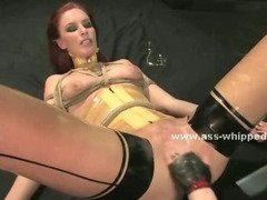 Pair of nasty sluts use nasty chains and mouth gags to fuck in brutal lesbian sex