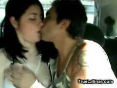 Horny Latina Sex on the Back Seat