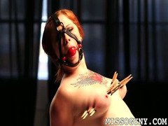 Gagged and tormented Misty Dawn