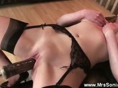 Hard mature pussy drilling